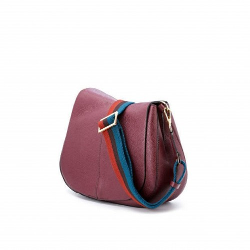 Gianni Chiarini Helena Round Medium Merlot Shoulder Bag1