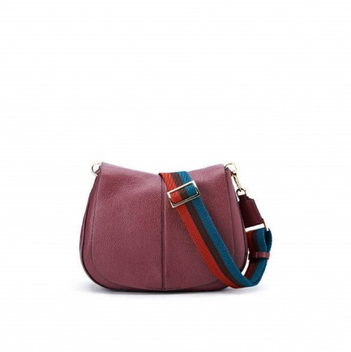 Gianni-Chiarini-Helena-Round-Medium-Merlot-Shoulder-Bag2