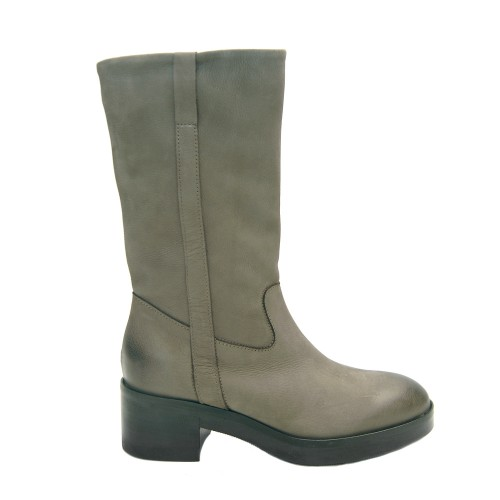 Lilimill 6392 Grey Nubuck Boots Rubber Sole1