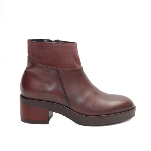 Lilimill 6431 Merlot Leather Ankle Boots Rubber Sole1