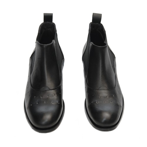 Lilimill-6531-Black-Leather-Flat-Booties2
