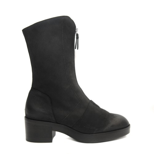 Lilimill 6547 Black Nubuck Boots Central Zip1