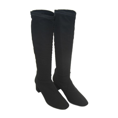 The-Bag-Black-Stretch-Fabric-Knee-Boots2