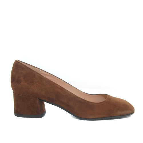 The Bag Tabac Suede Leather Pumps Medium Heel1