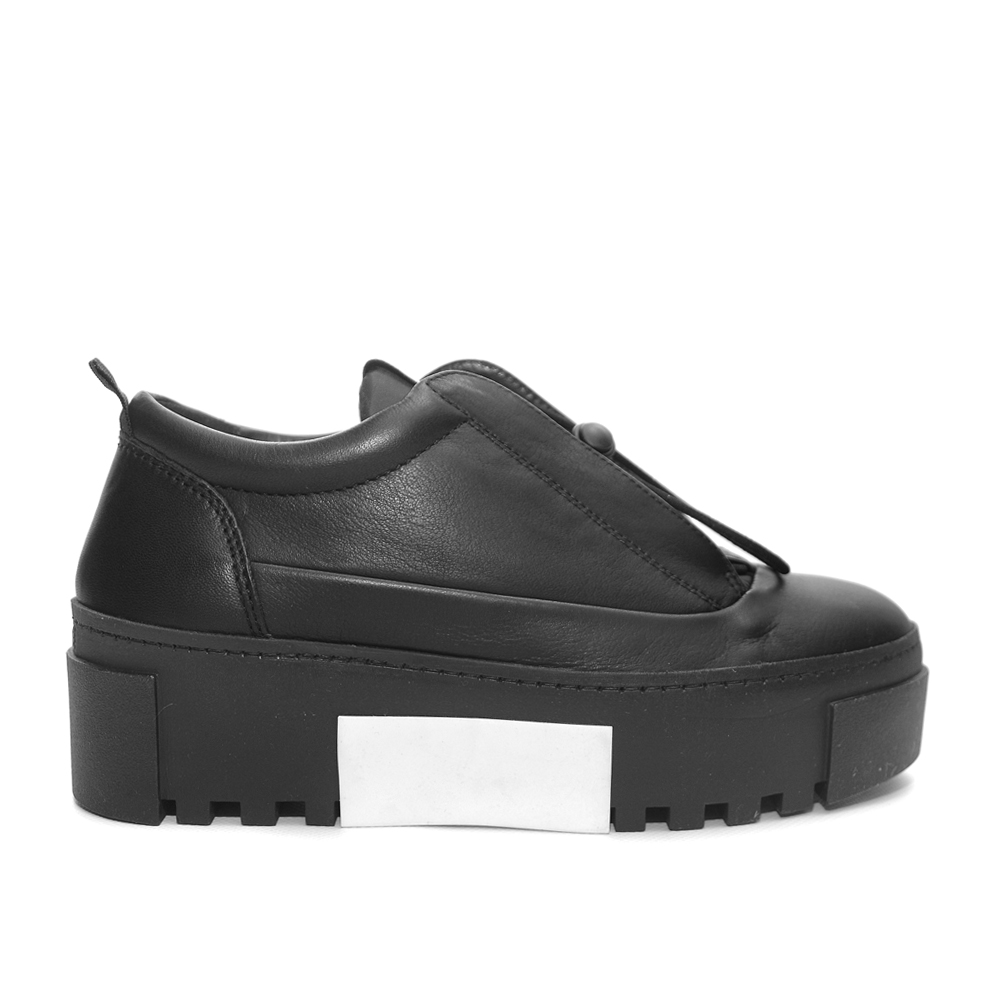Vic Matie Black Leather Sneaker Ruber Sole1