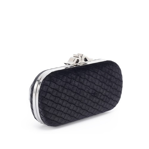 Abbacino Black Velvet Clutch Metal Accessory1