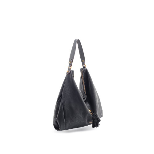 Abbacino Eco Leather Black Large Hobo Bag1