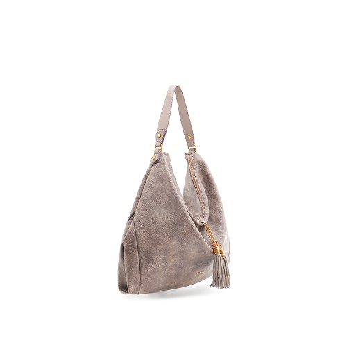 Abbacino Eco Leather Taupe Large Hobo Bag1