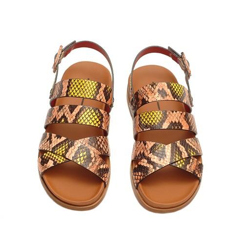 Uno8uno-elba-fard-leather-snake-print-sandals