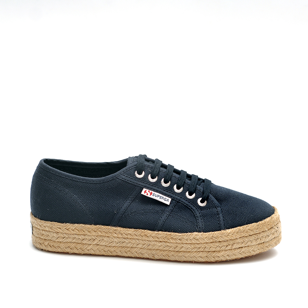 Superga cotrope navy canvas sneaker