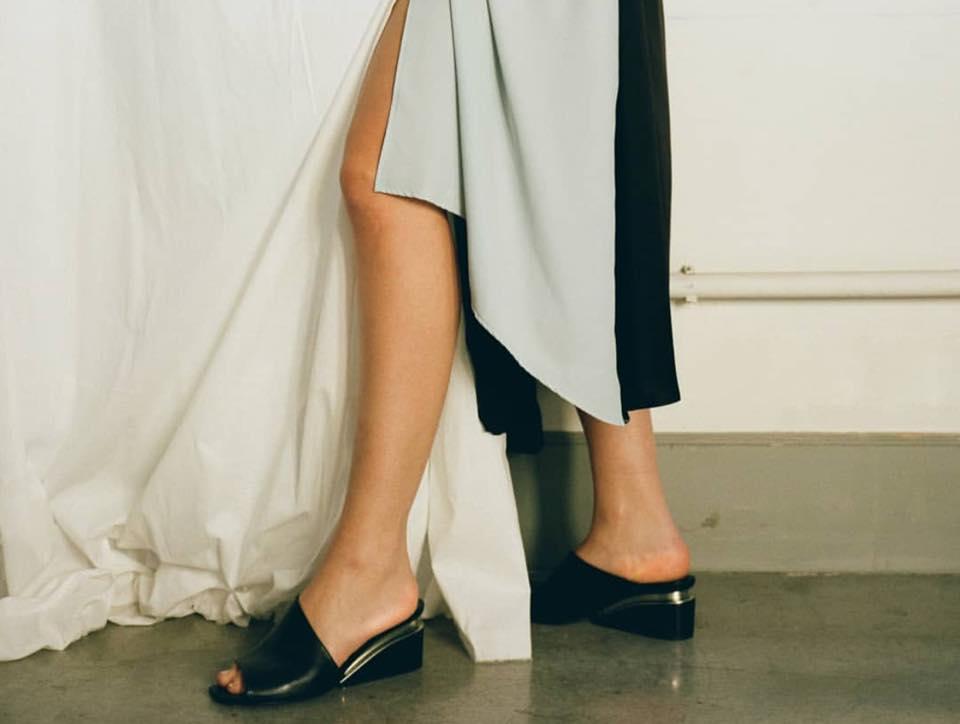 Vic Matie Black Asymmetric Slip On Shoes