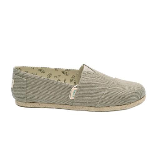 Paez grey canvas espadrilles leather sole