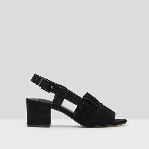 E8 by Miista romeo black suede mid heels