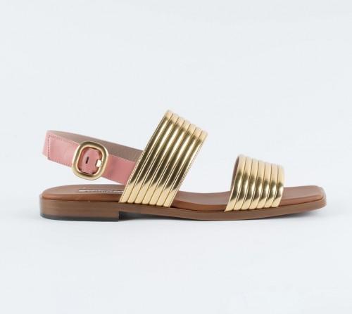 Alberto gozzi delizia bright golden sandal