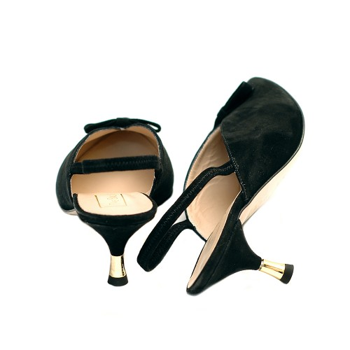 The-bag-black-suede-slingback-pumps-golden-detail
