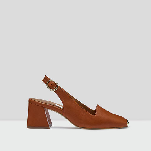 Miista canar brick leather heels