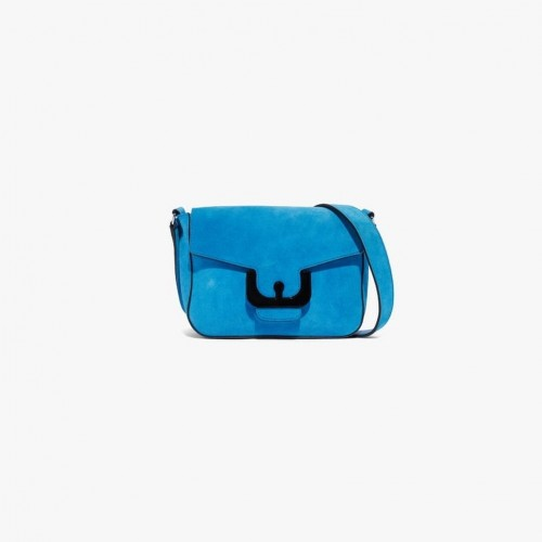 Coccinelle ambrine suede crossbody bright blue