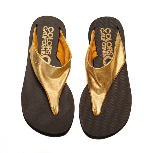 Colors of california golden elastic band flip flops