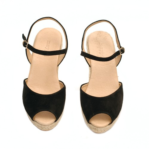 Maypol-loma-baby-silk-black-suede-wedges