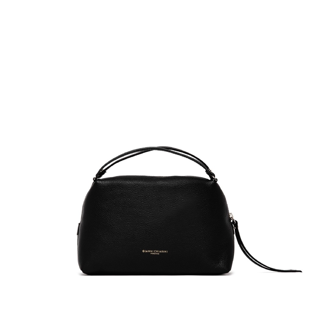 Gianni chiarini alifa medium black leather bag