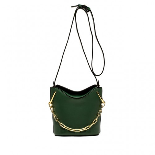 Gianni chiarini sophia green medium bucket goledn chain