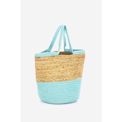 Abbacino-turquoise-jute-beach-tote-bag