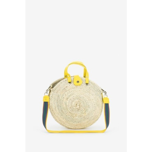 Abbacino medium yellow raffia tote bag