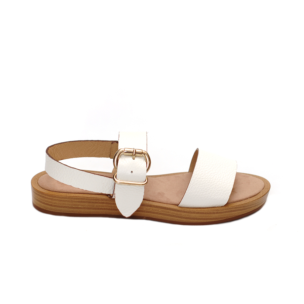 Maypol ecomo white leather sandals