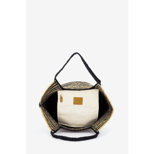 Abbacino-Beige-Black-Pinstrap-Jute-Shopper-Beach-Bag