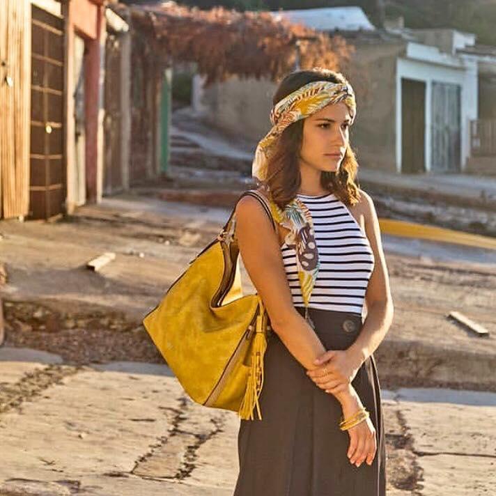 Abbacino Yellow Hobo Shoulder Bag