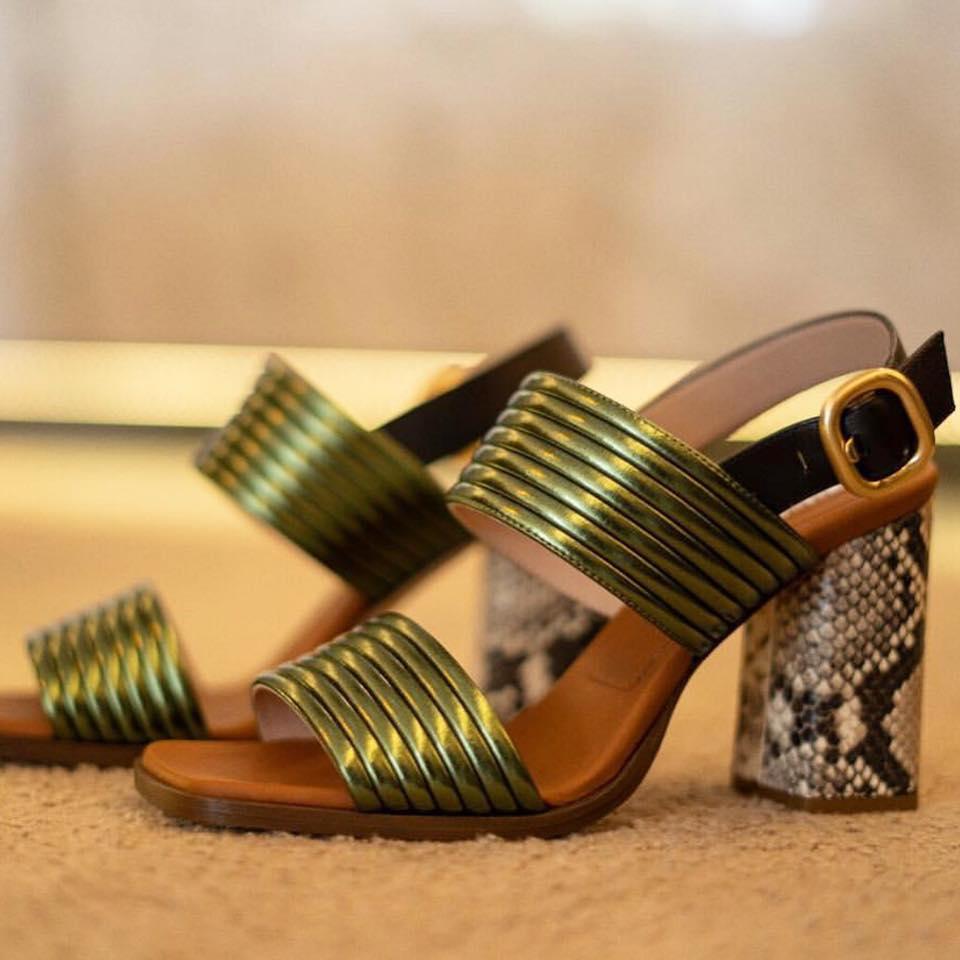 Alberto-Gozzi-Dulina-Green-Strap-Snake-Print-Heel-Sandals