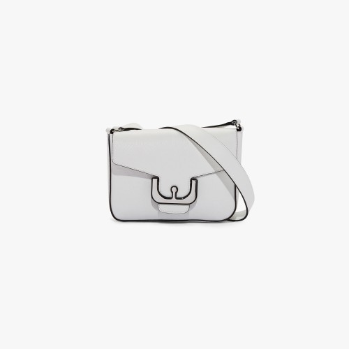 Coccinelle Ambrine Leather Crossbody Bag White