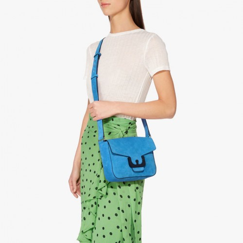 Coccinelle-Ambrine-Suede-Crossbody-Bright--Blue