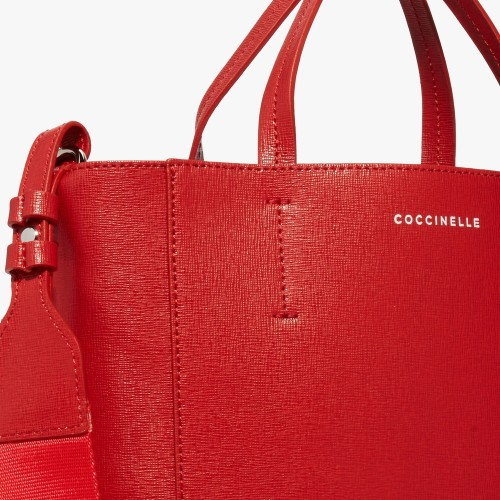 Coccinelle-Nova-Red-Leather-Handbag