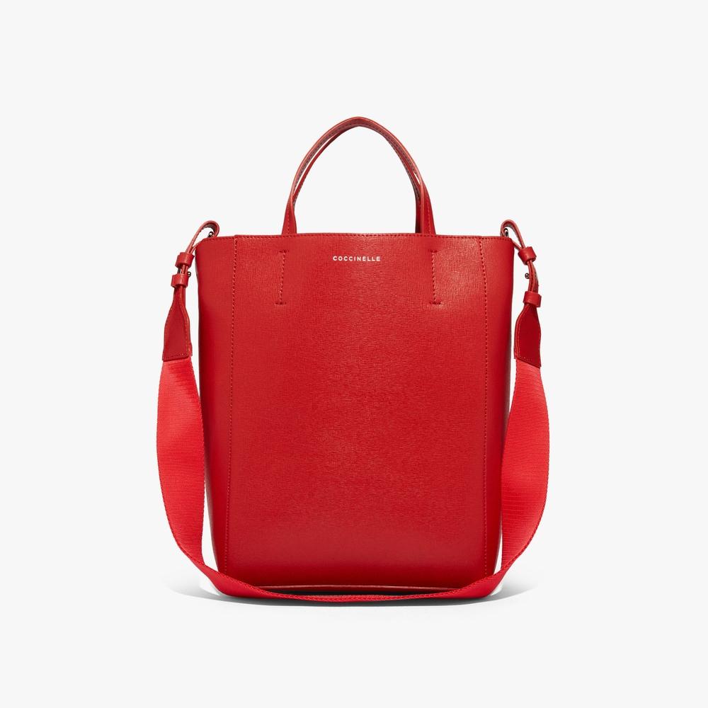 Coccinelle Nova Red Leather Handbag