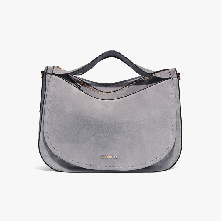 Coccinelle Persefone Lunar Hobo Suede Bag