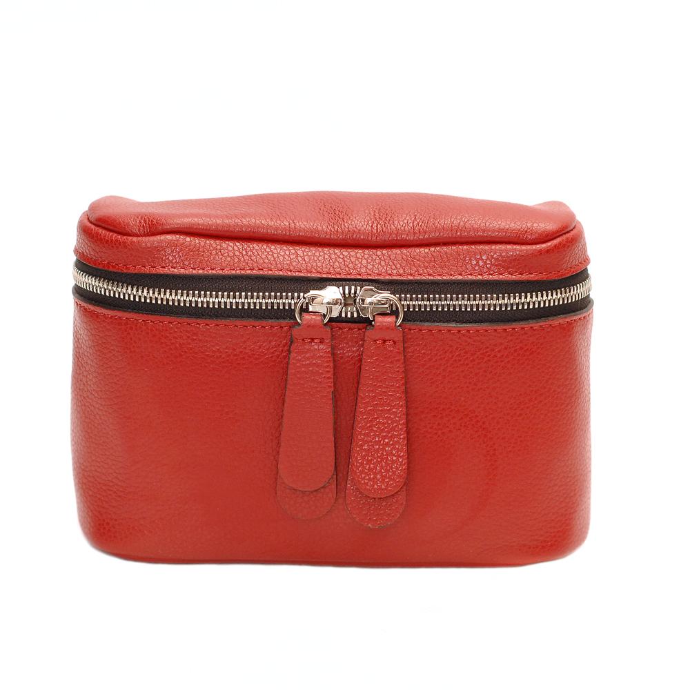 Gianni Chiarini Galatea Red Leather Mini Crossbody Bag
