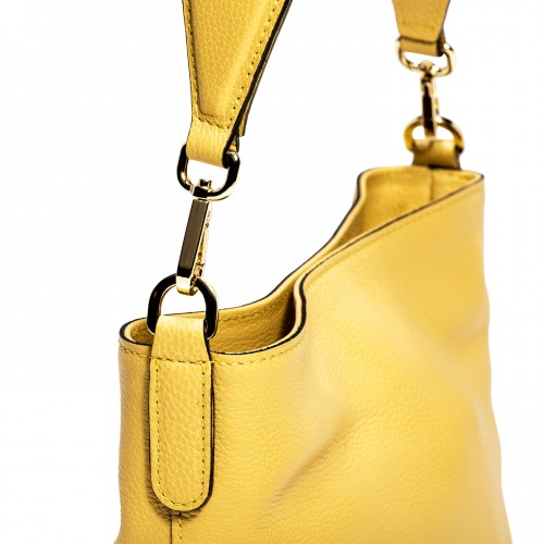 Gianni-Chiarini-Jackie-Large-Yellow-Leather-Bucket-Bag