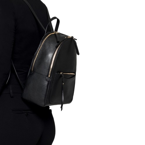 Gianni-Chiarini-Ogiva-Large-Black-Leather-Backpack