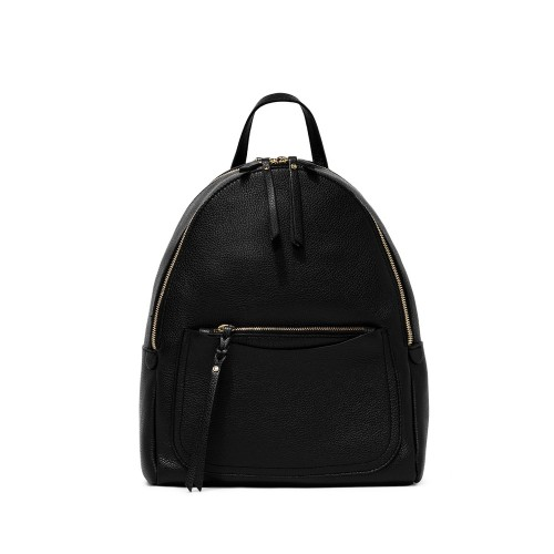 Gianni Chiarini Ogiva Large Black Leather Backpack