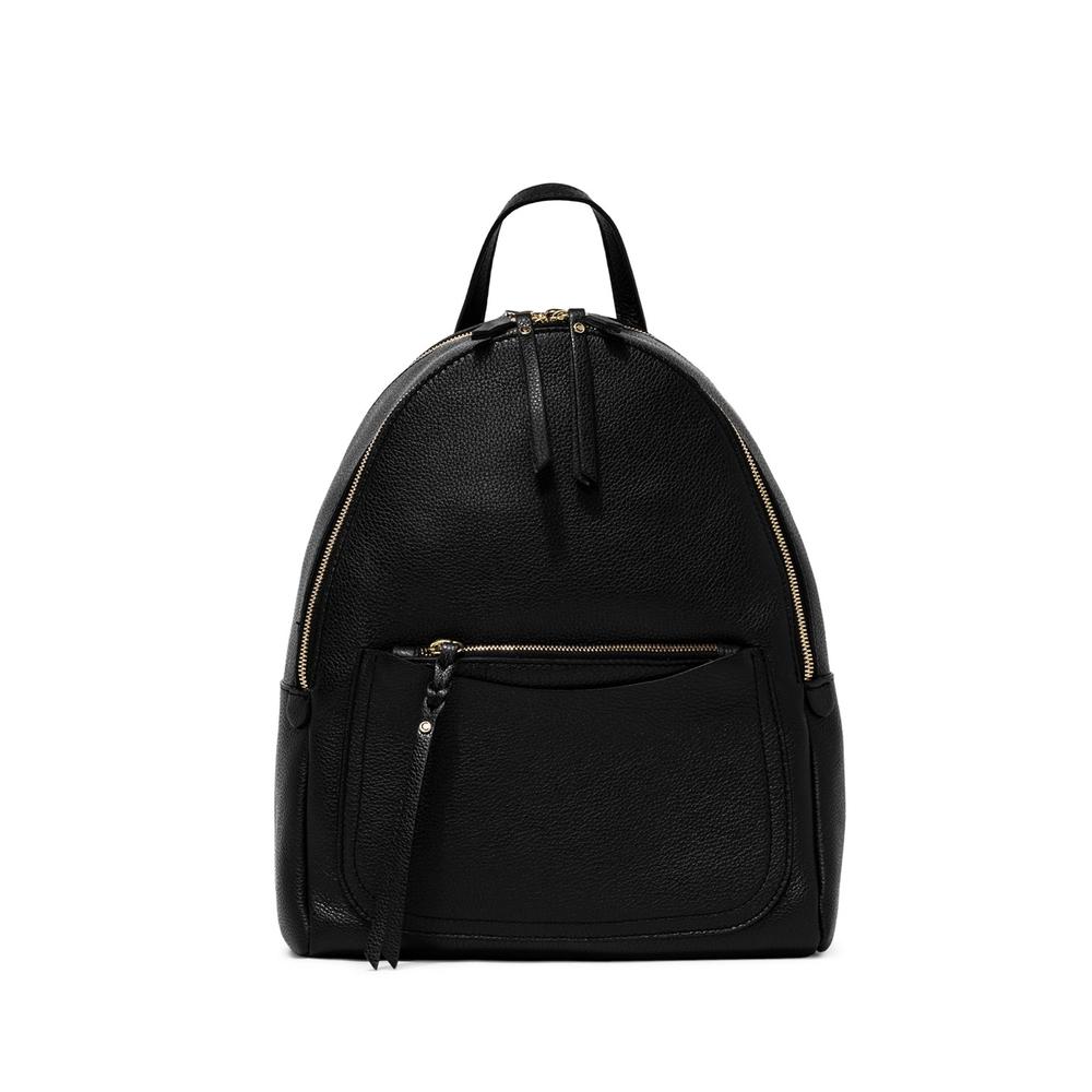 Gianni Chiarini Ogiva Large Black Leather Backpack
