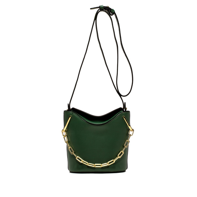 Gianni Chiarini Sophia Medium Green Bucket Golden Chain
