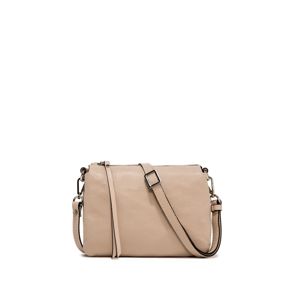 Gianni Chiarini Three Small Nude Crossbody Bag