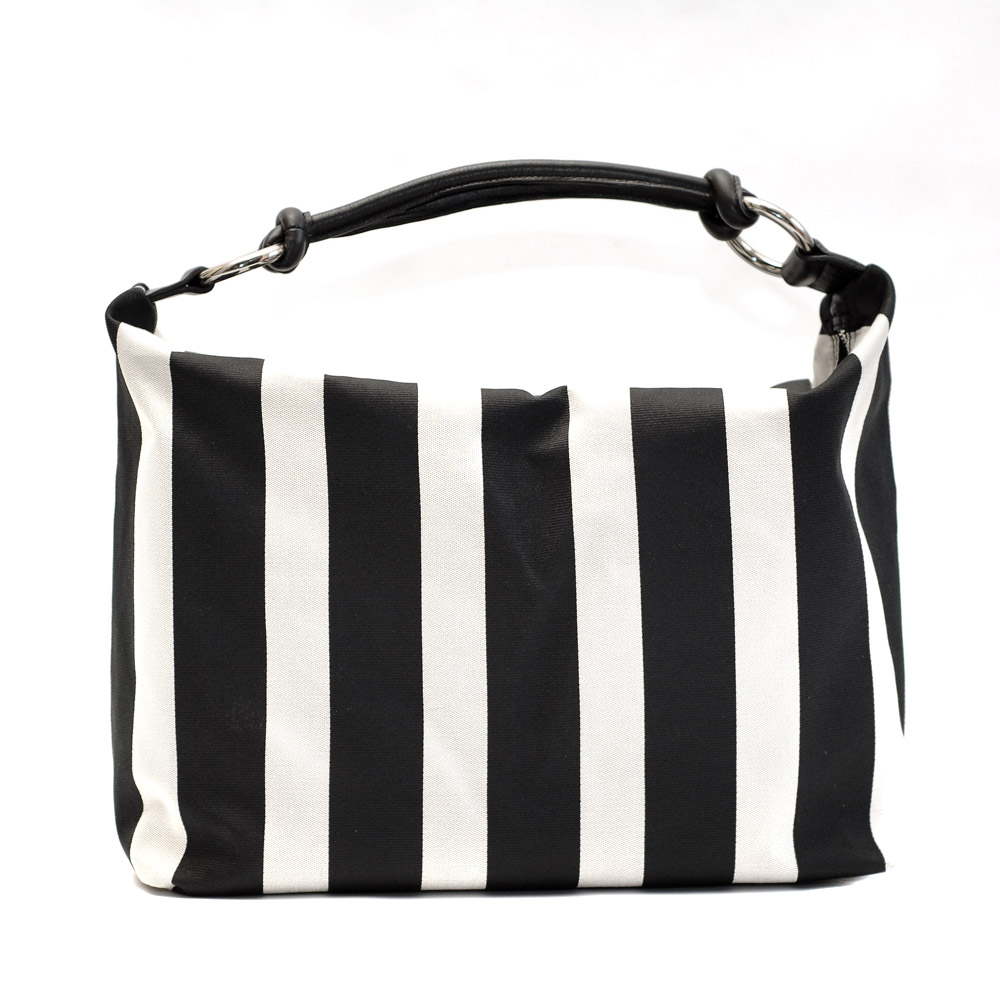 Kate Koll Large Black And White Stripe Bag
