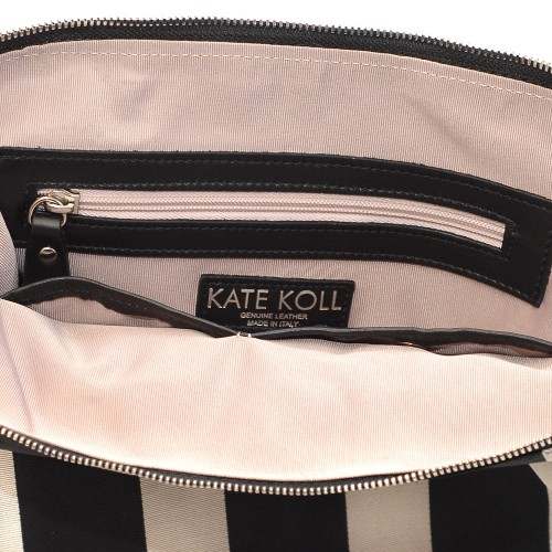 Kate-Koll-Large-Black-And-White-Stripe-Bag