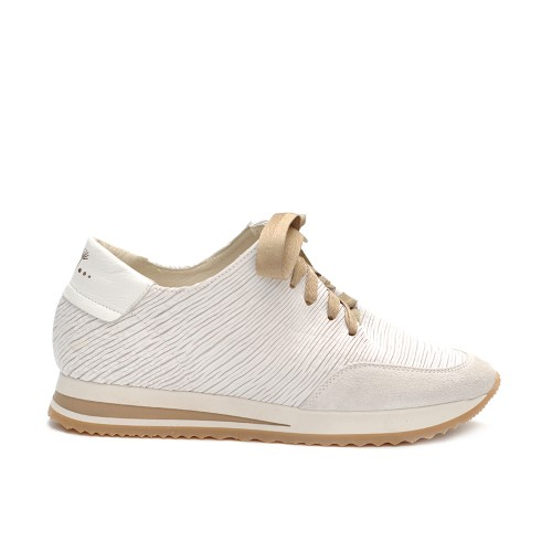 Lilimill Laser Cut Leather Sneakers White