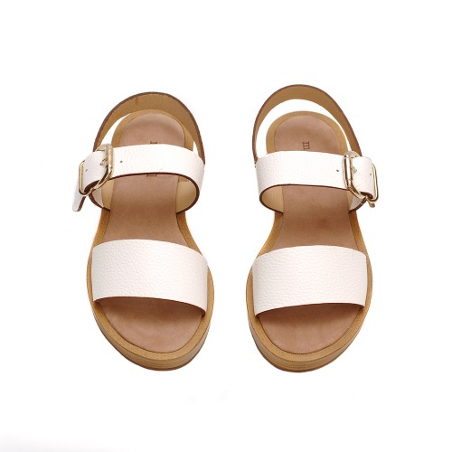Maypol-Ecomo-Bufallo-White-Leather-Sandals
