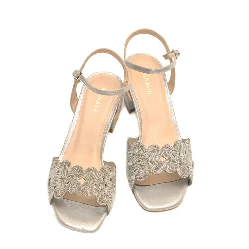 Menbur-Verbicaro-Silver-Mid-Heel-Sandals-Textile-Upper
