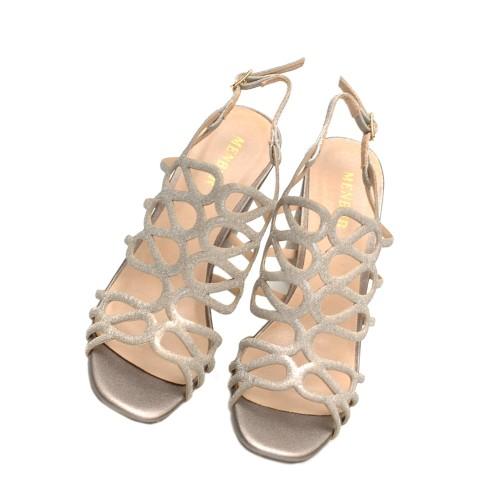 Menbur-Vertova-Silver-High-Heel-Sandals-Textile-Straps