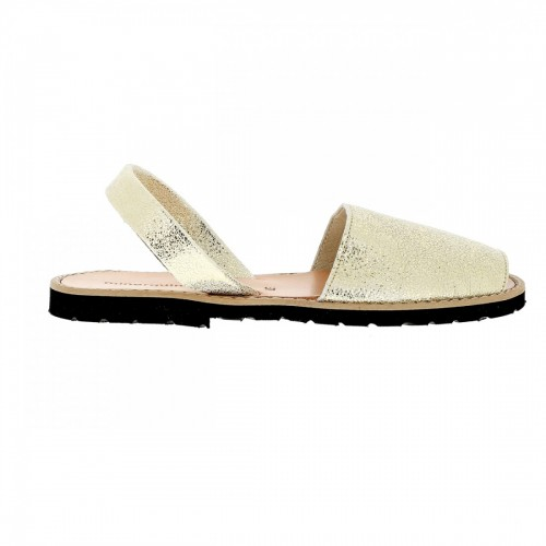 Minorquines Avarca Lezard Platinum Leather Sandals